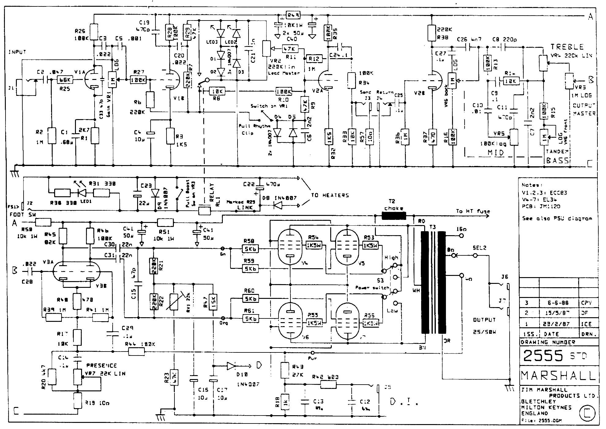 Jcm800 2204 Schematic – Billy Knight