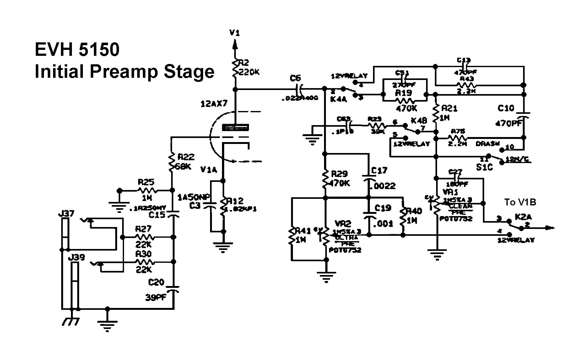 Peavey Wiring Diagrams Detailed Schematics Diagram Humbucker 5150 Another Blog About U2022 Horn