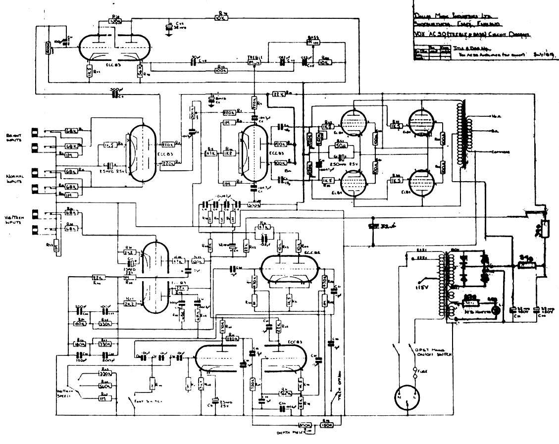 Vox Ac30 Amp Wiring Diagram And Schematics Guitar Layout Turretboard Org Source Amplifier 1960